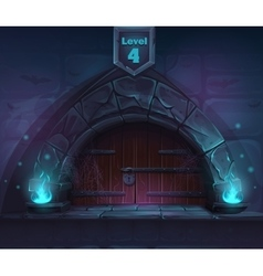 Magic door in next 4th level vector