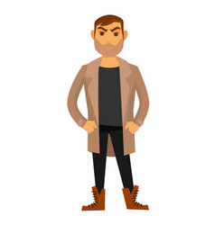 man fashion model wearing style clothes vector image