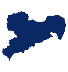 map saxony in blue colour vector image