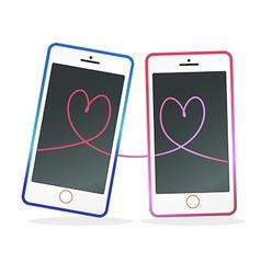 Mobile in love vector