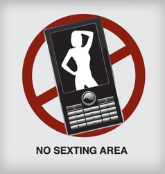 Nosexting sign vector