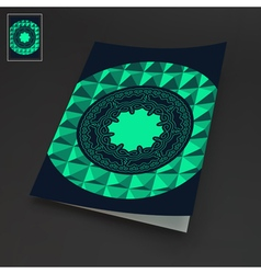 Notebook Cover Template Oriental Design vector