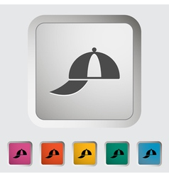 Peaked cap vector image