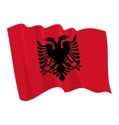 Political waving flag of albania vector