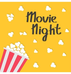 Popcorn bag cinema icon in flat design style movie vector