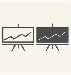 presentation line and glyph icon infographic vector image
