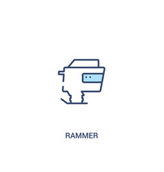 Rammer concept 2 colored icon simple line element vector