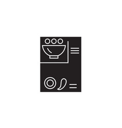 recipe card black concept icon recipe card vector image