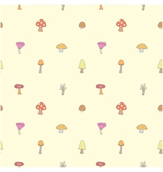 Seamless of mushrooms set vector image