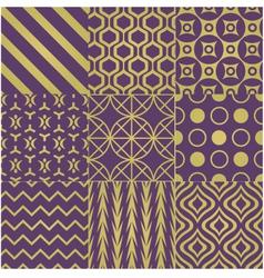 Seamless purple gold pattern vector