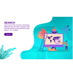 search concept with character template for banner vector image