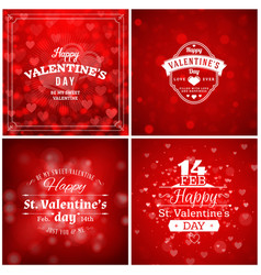 set of valentines day greeting cards or poster vector image