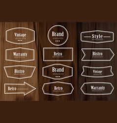 set of vintage style frame labels and elements vector image