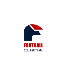Sign for football college team vector
