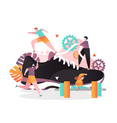 Sport concept for web banner website page vector