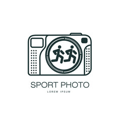 sport photo camera icon isolated vector image