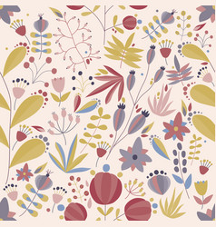Spring seamless pattern with blooming garden vector
