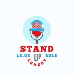 Stand up comedy abstract sign emblem or vector