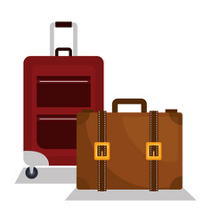 Suitcase travel vacations icon vector