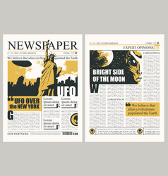 Template for layout us newspaper on ufos vector