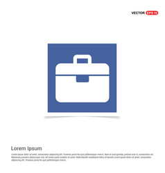 tool box icon - blue photo frame vector image