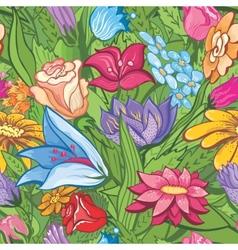 Vintage bright floral pattern vector image