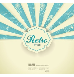 Vintage faded background Retro stripes or beams vector