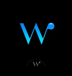 w letter water drop monogram vector image