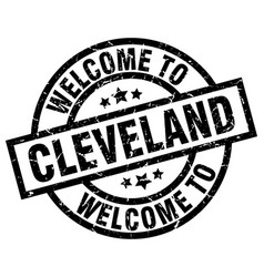 Welcome to cleveland black stamp vector