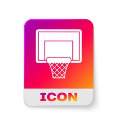 White basketball backboard icon isolated on white vector