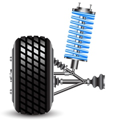 car suspension frontal view vector image