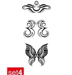 Decorative Tribal tattoos set4 vector image
