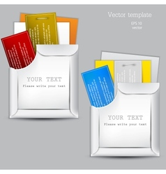 Paper sheets envelopes vector image vector image
