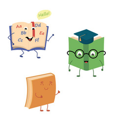 Set of funny characters from books vector