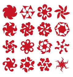 Abstract geometric circular shapes vector