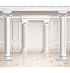 Classic Hall Design vector image vector image