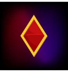 Diamond suit icon in cartoon style vector image vector image