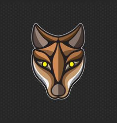 Fox logo design template fox head icon vector