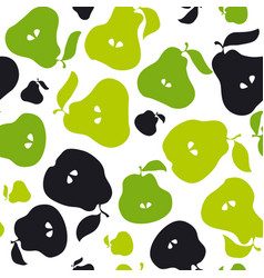 green pear fruit seamless pattern for fabric vector image vector image
