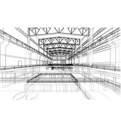 industrial zone sketch vector image vector image