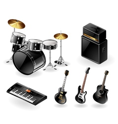 Modern musical instruments vector image