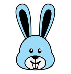 simple cartoon of a cute rabbit vector image vector image