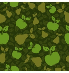apple pear seamless background vector image vector image