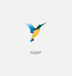color of origami bird vector image vector image