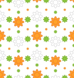 Indian Seamless Wallpaper in Traditional Tricolor vector image vector image