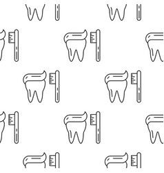 seamless pattern teeth vector image