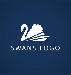 Swan logo sign emblem-14 vector