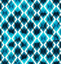 blue diamonds seamless pattern vector image vector image
