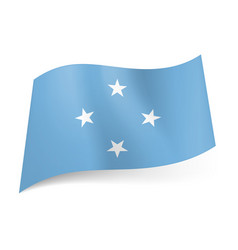 flag of federated states of micronesia four white vector image vector image