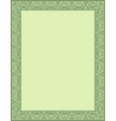 green certificate background vector image vector image